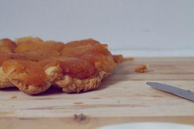 tatin de manzana con base crujiente de Muesli